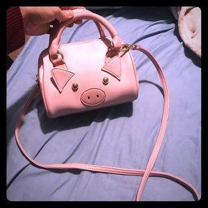 Pink pig Betsey Johnson mini crossbody bag